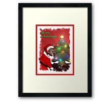 Santa Gromit Framed Print