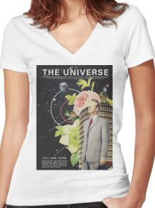 The Universe Women's Fitted V-Neck T-Shirt