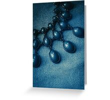 Blue drops Greeting Card