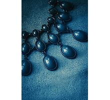 Blue drops Photographic Print