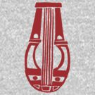 Lyre (red) by Apotypomata