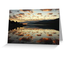 Dusk in the Scottish Highlands. Greeting Card
