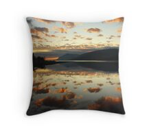 Dusk in the Scottish Highlands. Throw Pillow