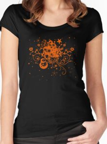 Floral Burst Women's Fitted Scoop T-Shirt