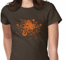 Floral Burst Womens Fitted T-Shirt