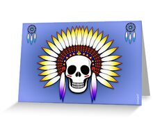 NATIVE AMERICAN INDIAN SKULL Greeting Card