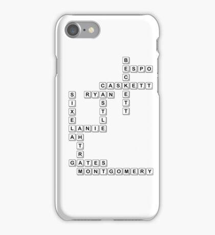 castle scrabble  iPhone Case/Skin