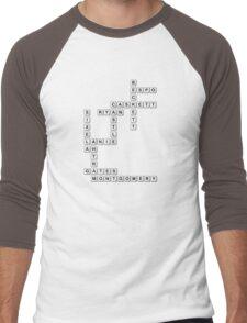 castle scrabble  Men's Baseball ¾ T-Shirt