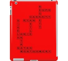 castle scrabble  iPad Case/Skin