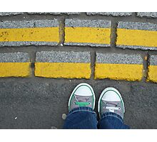 Yellow Lines Photographic Print