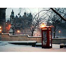 Bristo Square in Snowy November Photographic Print