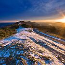 Malvern Hills: Winter Sunset by Angie Latham