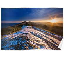Malvern Hills: Winter Sunset Poster