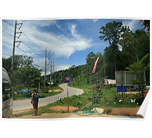 The windy road to Pai Poster
