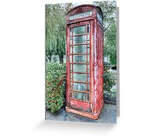 Red Telephone Booth Greeting Card