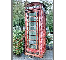 Red Telephone Booth Photographic Print