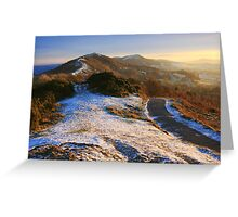 Malvern Hills: Winter Walk Greeting Card