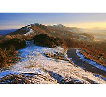 Malvern Hills: Winter Walk Photographic Print