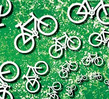 bikes on green by bicyclegood
