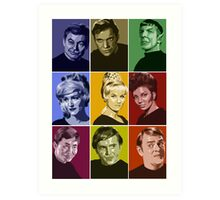 Star Trek TOS Crew (stylized) Art Print