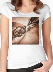 Abstract Form 2 Women's Fitted Scoop T-Shirt