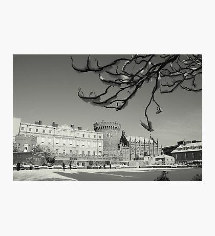 Dublin Castle in the snow Photographic Print