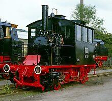 Steam locomotives at Bochum, Germany,1985. by David A. L. Davies