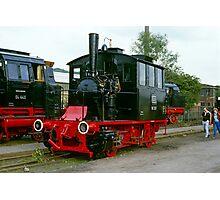 Steam locomotives at Bochum, Germany,1985. Photographic Print