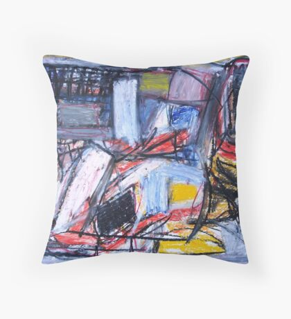 Market Forces Throw Pillow