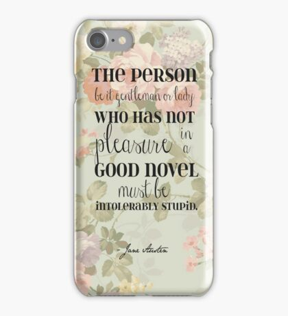 Pleasure of a Good Novel - Jane Austen iPhone Case/Skin