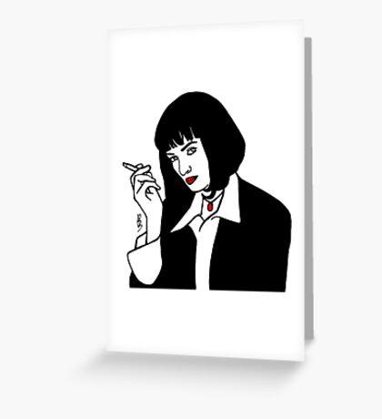 Mia Wallace Pulp Fiction Greeting Card