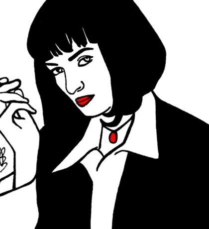 Mia Wallace Pulp Fiction Sticker