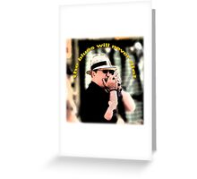 the blues will never die! Greeting Card
