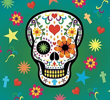 SUGAR SKULL HEARTS & FLOWERS by SNUGBAT