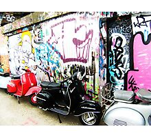 Vintage Mopeds Photographic Print