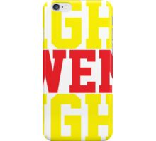 Fight Owens Fight (Yellow/Red) iPhone Case/Skin