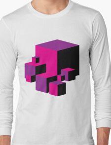 Geometric Blocks (Pink/Purple) Long Sleeve T-Shirt