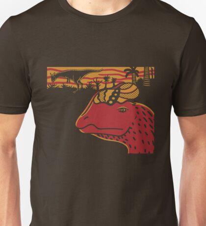 Dilophosaurus Duo - Orange and Red Unisex T-Shirt