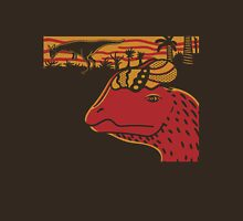 Dilophosaurus Duo - Orange and Red Unisex T-Shirt