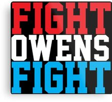 Fight Owens Fight (Blue/White/Red) Metal Print