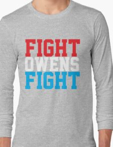 Fight Owens Fight (Blue/White/Red) Long Sleeve T-Shirt