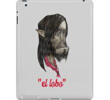 """Pedro """"el lobo"""" Garcia-Gomez iPad Case/Skin"""