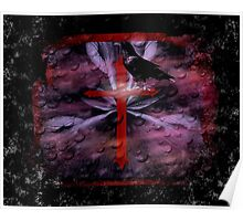 Goth Effect Raven and Cross Poster