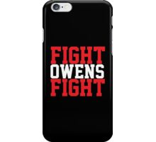 Fight Owens Fight (Red/White) iPhone Case/Skin