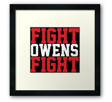 Fight Owens Fight (Red/White) Framed Print