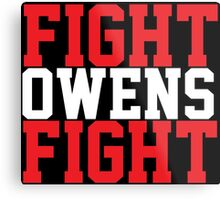 Fight Owens Fight (Red/White) Metal Print