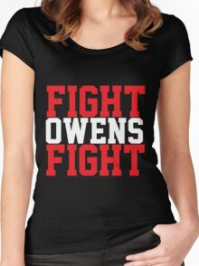Fight Owens Fight (Red/White) Women's Fitted Scoop T-Shirt