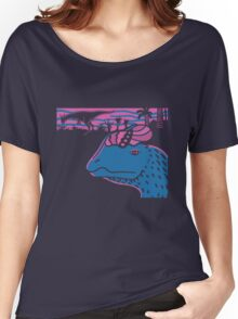 Dilophosaurus Duo - Magenta and Blue Women's Relaxed Fit T-Shirt