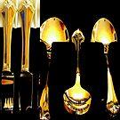 knives, forks, spoons by Leeanne Middleton