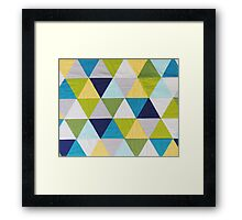 Triangle quilt Framed Print